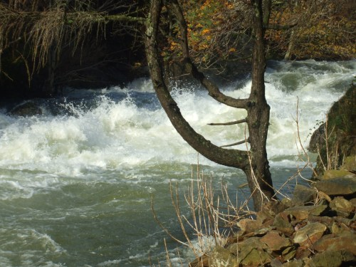 Rapids in the Aberglaslyn Pass