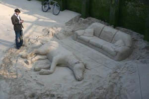 Sand sculpture on the South Bank