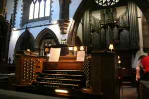 St Ninian's Cathedral, Perth - Organ Console