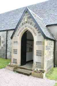 The entrance to St Columba's Gruline
