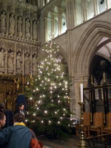 Christmas Tree at the High Altar of Southwark Cathedral