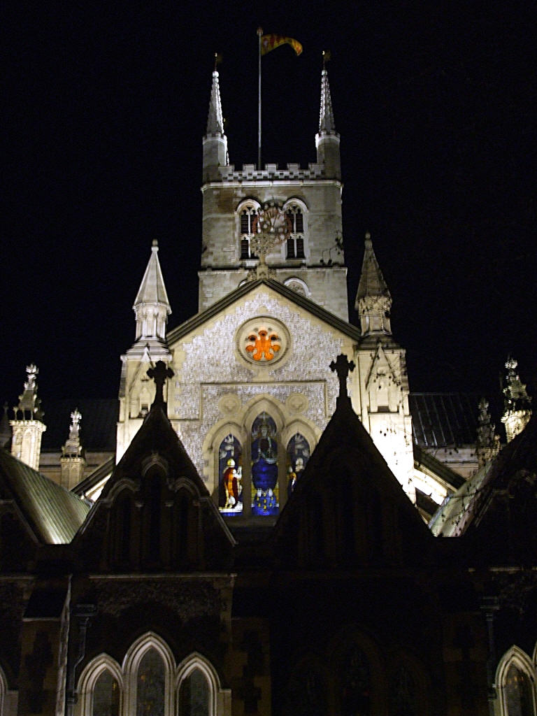 Floodlit East End of Southwark Cathedral