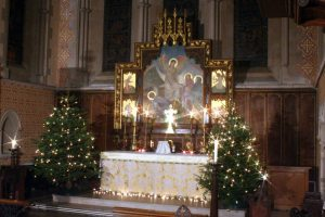 High Altar Christmas Trees and lights