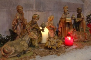 Wise Men in Crib Scene at St Mary's Cathedral - 3 January 2010