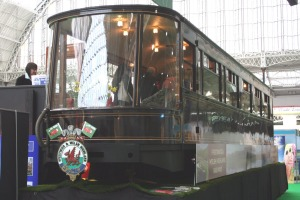 Welsh Highland Railway Pullman Observation Carriage 2100 at Olympia