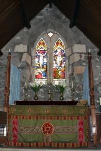 Altar at St Kilda's Church, Loch Buie, Isle of Mull