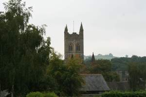 The tower of Buckfast Abbey