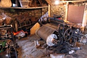 Harris Tweed loom in the Gearrannan Blackhouse