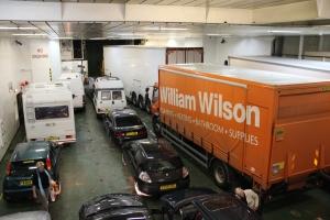 Loaded vehicle deck on MV Isle of Lewis