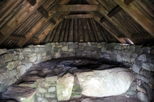 Inside of the Shawbost Kiln