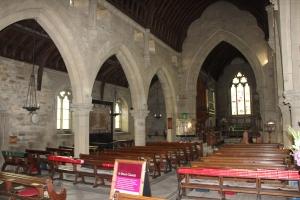 Interior of St Peter's, Edensor