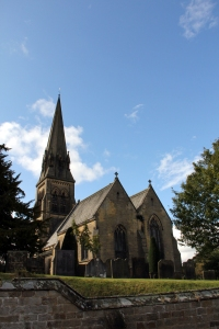 Exterior of St Peter's, Edensor