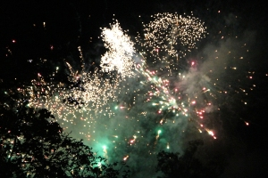 Firework display at Matlock