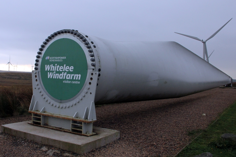 Turbine Blade at Entrance to Whitelee Windfarm Visitor Centre