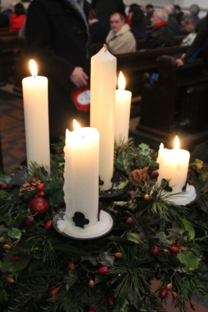 Advent Wreath at St Mary's Cathedral, Glasgow