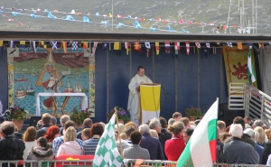 Fishermans' Mass on Castlebay Pier with Fr John Paul Mackinnon