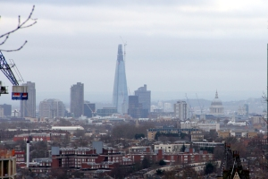 London skyline from Archway Bridge