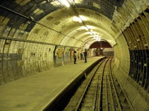 Eastern platform at Aldwych tube station