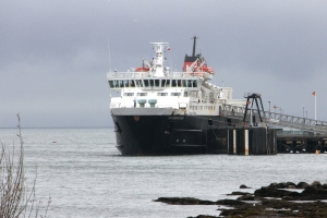 MV Caledonian Isles after an afternoon arrival at Brodick on Hogmany 2011