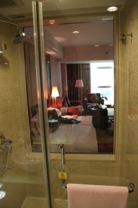 View from the shower room to bedroom