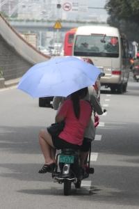 Three on a Moped in Fuzhou