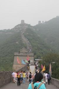 Looking up the Great Wall at Juyongguan