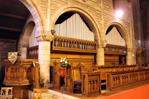 The organ at St Margaret's
