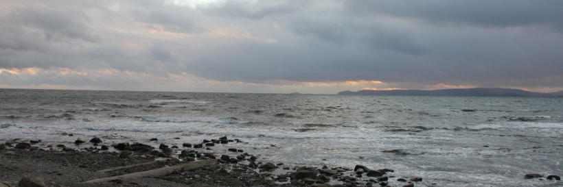 Sunset over the Mull of Kintyre from Blackwaterfoot.