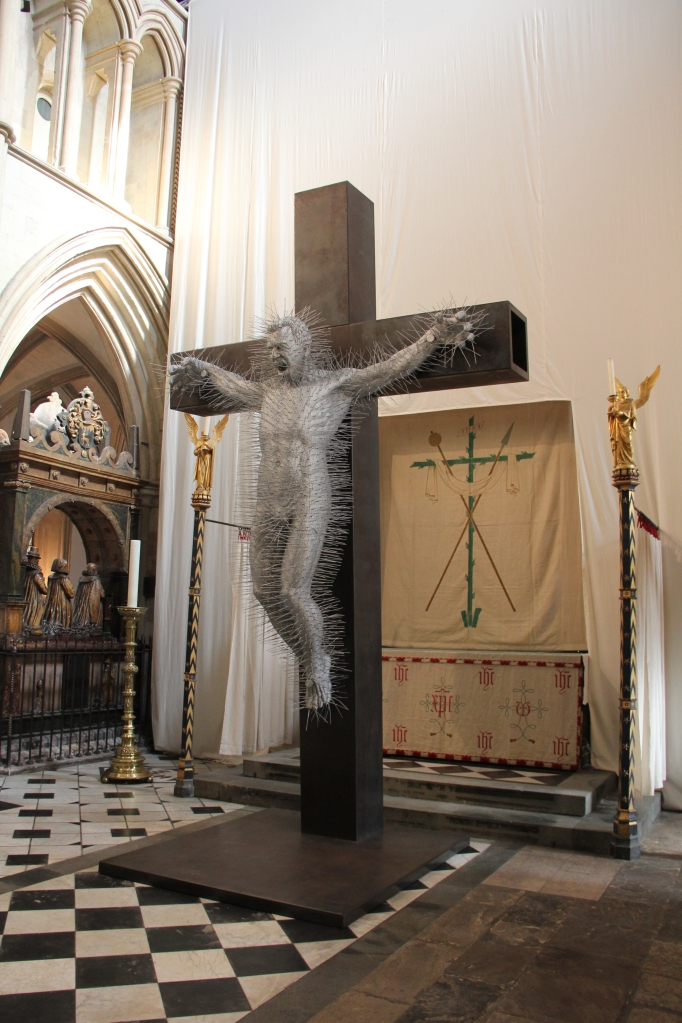 """Die Harder"" at Southwark Cathedral by David Mach."