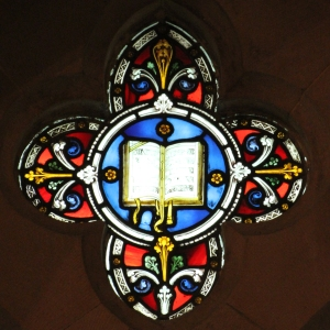 Upper light in a north aisle window of St Mary's Cathedral