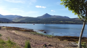 Goat Fell and Brodick Bay.