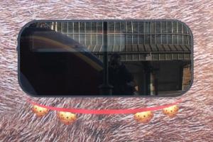Sleighbells under window of #Traindeer (with one missing)