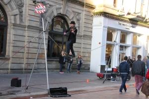 Balancing Violinist in Buchanan Street