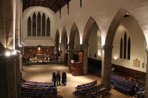 Setting up for a Ceilidh in Greyfriars Kirk