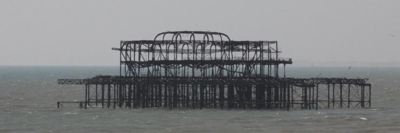 Framework of Brighton West Pier