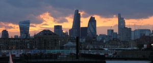 Sunset of the City of London