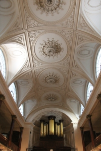Ceiling Detail and Organ
