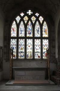 East End window and altar at St Margaret's Braemar