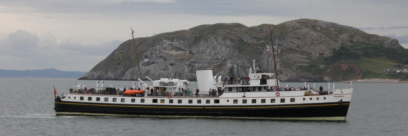 MV Balmoral entering Llandudno Bay.