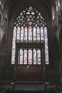 East Window and High Altar of Carlisle Cathedral.