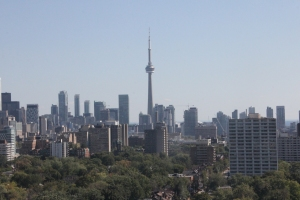 CN Tower and downtown Toronto