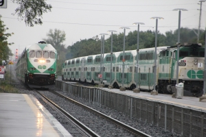 GO Trains at Port Credit