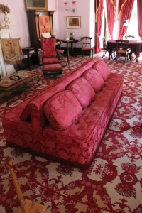 Double sided sofa in the Drawing Room.