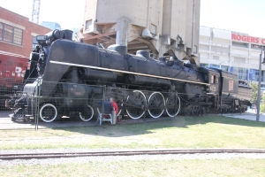 CNR 4-8-4 6213 at the coaling stage.