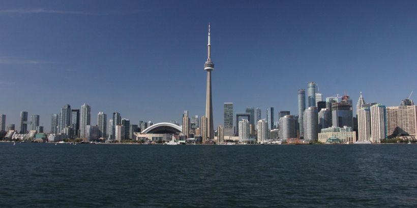 Toronto skyline from the harbour