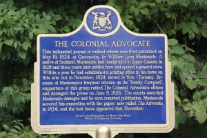 The Colonial Advocate Plaque