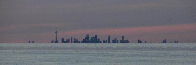 Lake Ontario sunset over Toronto