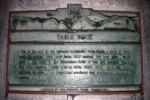 Table Rock plaque