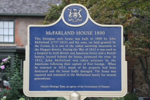 McFarland House plaque