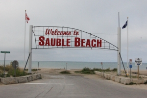 Welcome to Sauble Beach sign